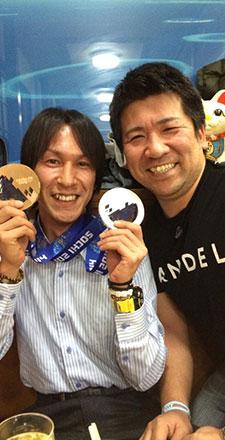 札幌を代表するレジェンド、葛西紀明選手との写真
