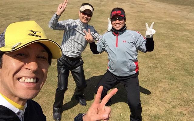 札幌近くのゴルフクラブにて